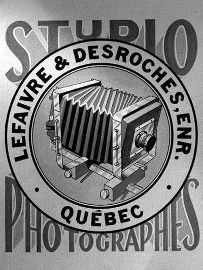 Enseigne du studio Lefaivre & Desroches dans les années 50