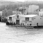 Le quai d'embarquement de la traverse de Lévis èa Québec en 1970