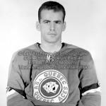 Le joueur de hockey des As de Québec, Michel Harvey lors de la saison 1961-1962