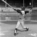 Le joueur de baseball des Indiens de Québec, Angel Davila, le 9 juillet 1970