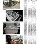"""Page 45 du catalogue de la carte postale """"COLLECTION ART"""". Elle montre différentes étapes de production du produit réalisé sur presse Staccato"""