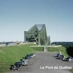 Le pont de Québec en couleur le 30 juillet 1953