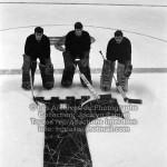 Gardiens de but des Remparts de Québec Michel Robert, Serge Gaudreault et Raynald Fortin, 1970