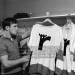 Gilets dans le vestiaire des Remparts de Québec, 1969